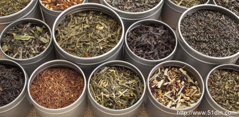 不同类型的日本绿茶叶